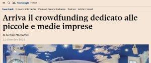 Articolo Il Sole 24 ore Gelatarium CrowdInvest Italia
